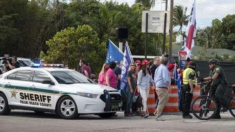 Gabinete do Xerife do Condado de Palm Beach trabalha com o Serviço Secreto dos EUA há anos para proteger Trump e sua família