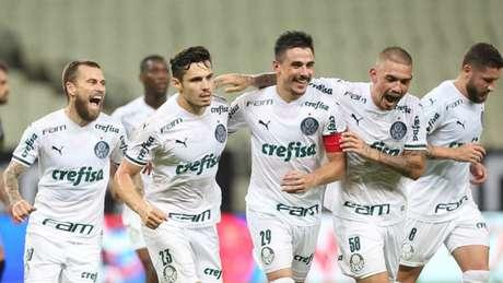 Palmeiras no Castelão (Foto: César Greco/Palmeiras)