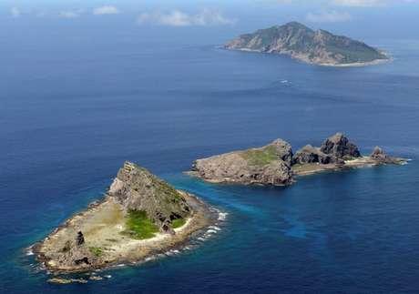 Ilhas Uotsuri, Minamikojima e Kitakojima, conhecidas como Senkaku no Japão e Diaoyu na China . 09/2012 REUTERS/Kyodo/Foto de arquivo