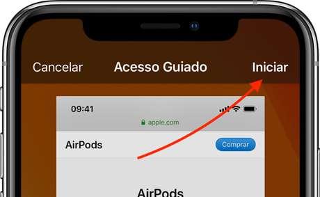 Iniciar Acesso Guiado (Imagem: Divulgação/Apple)
