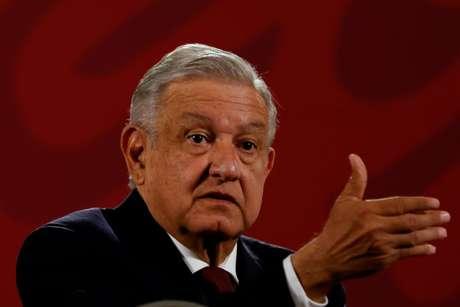 Presidente do México, Andrés Manuel López Obrador, durante entrevista coletiva na Cidade do México 13/11/2020 REUTERS/Carlos Jasso