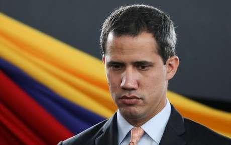 Líder da oposição venezuelana Juan Guaidó durante sessão da Assembleia Nacional da Venezuela, realizada em um anfiteatro de Caracas 15/01/2020 REUTERS/Manaure Quintero