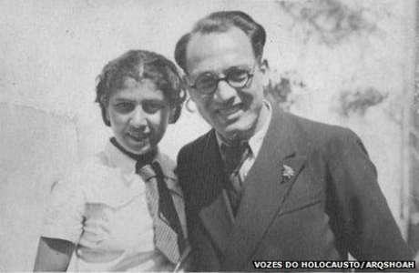 Sara Leah e Isaac Menache durante o noivado em Tessalônica, 1938