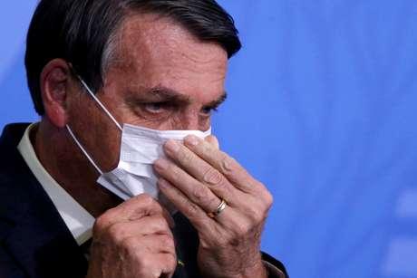 Bolsonaro em evento, em Brasília  REUTERS/Adriano Machado