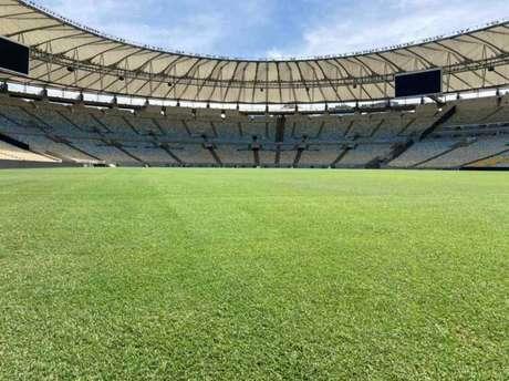 O Maracanã está fechado desde o dia 16 de janeiro, sendo preparado para a decisão de sábado (Foto: Divulgação)