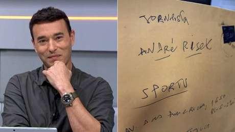 Carta endereçada a Rizek chegou no SporTV (Reprodução)