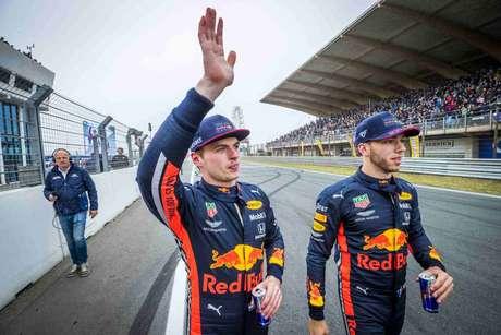 Max Verstappen e Pierre Gasly foram companheiros de equipe por 12 etapas em 2019