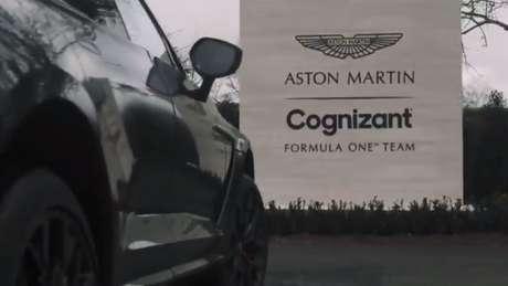 Sebastian Vettel chega na Aston Martin