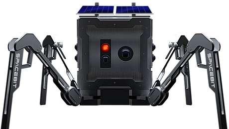 Nasagumo, mini-rover da Spacebit (sem relação) que apesar do nome é britânica. (Crédito: Spacebit)