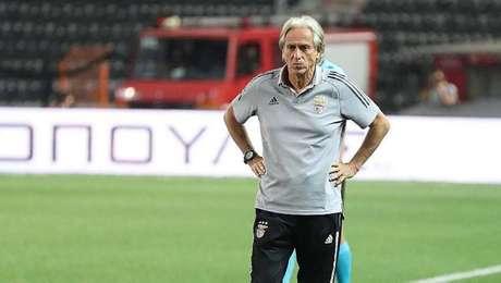 Jorge Jesus no comando do Benfica