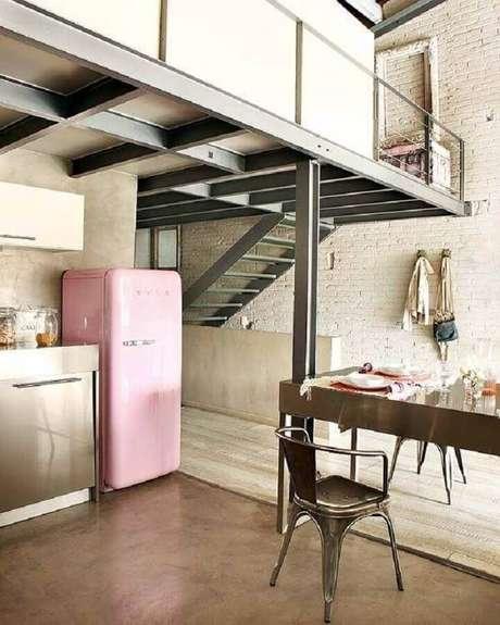 41. Invista em ambientes integrados a sua cozinha estilo industrial – Foto: Home Fashion Trend