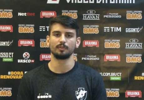 Ricardo Graça surgiu como promessa e vai se consolidando no Vasco (Reprodução / VascoTV)