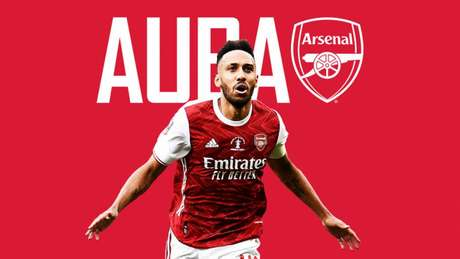 Aubameyang é um dos destaques do Arsenal (Foto: Divulgação/Arsenal)