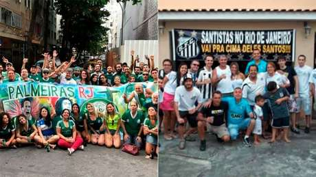 Torcedores de Palmeiras e Santos que moram no Rio não terão opção do Maracanã (Consulado do Palmeiras e Embaixada do Santos/Fotos de arquivo)