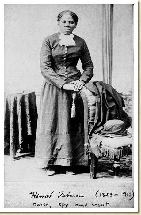 Harriet Tubman em foto da Biblioteca do Congresso dos EUA tirada pelo fotógrafo H.B. Lindsley entre 1860 e 1870