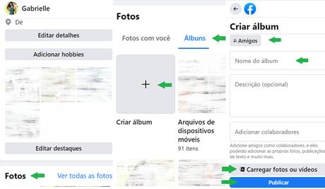 Como criar um álbum no Facebook
