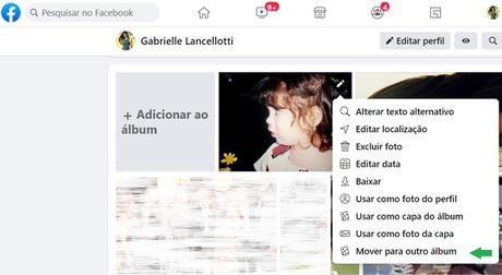 Como mover fotos entre álbuns do Facebook