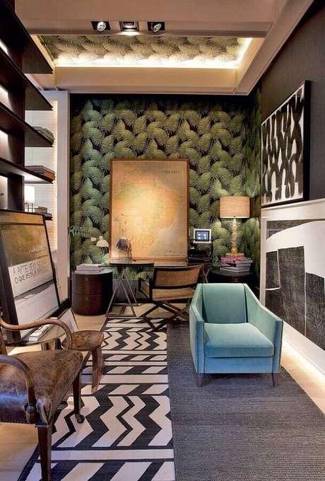 41. Papel de parede para decoração moderna – Via: Tempo de Delicadeza