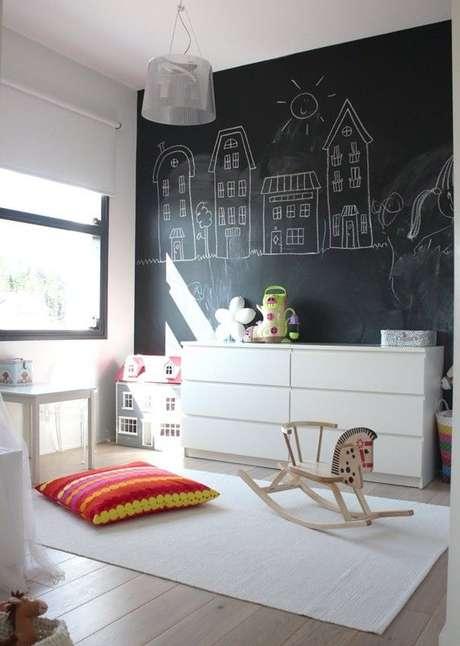 20. Papel de parede preto para quarto infantil criativo – Via: Pinterest