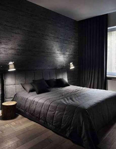 25. Papel de parede de tijolinho preto – Via: Wattpad
