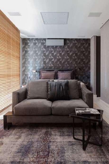 29. Papel de parede preto e cinza – Via: Casa Vogue