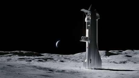 A SpaceX está participando do programa. (Crédito: NASA)