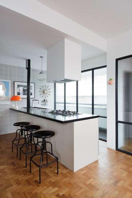 23. Revestimento para área gourmet moderna – Via: Mauricio Arruda Design