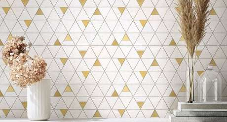 3. Revestimento para área gourmet em formato geométrico – Via: Portinari