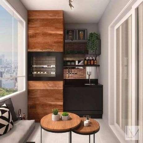 36. Revestimento para área gourmet de madeira – Via: Decor Design