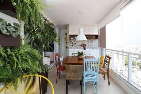 18. Inove na decoração da área gourmet – Via: Casa de Valentina