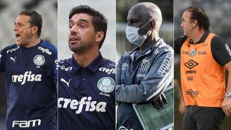 Palmeiras e Santos passaram por mudanças no comando técnico na temporada de 2020 (Foto: Divulgação)