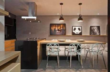 11. Revestimento para área gourmet moderna – Via: Pinterest