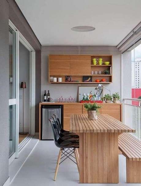 28. Revestimento para área gourmet de apartamento – Via: Dicas Decor