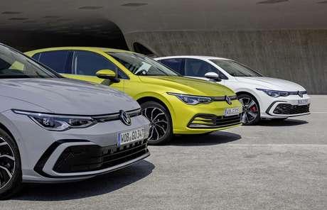Volkswagen Golf é sempre um best-seller, carregando a marca-mãe do grupo campeão.