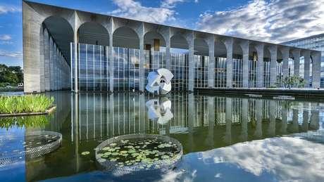 Fachada do Palácio do Itamaraty, em Brasília