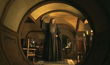O mago Gandalf foi interpretado pelo ator Sir Ian McKellen