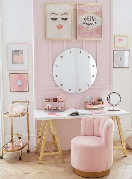 23. Penteadeira camarim infantil na decoração do quarto – Vai: Pinterest
