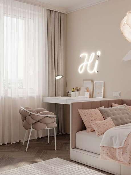 19. Cadeira para penteadeira simples – Via: Pinterest