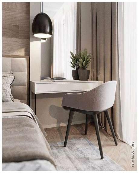 18. Cadeira para penteadeira pequena no quarto – Via: Pinterest