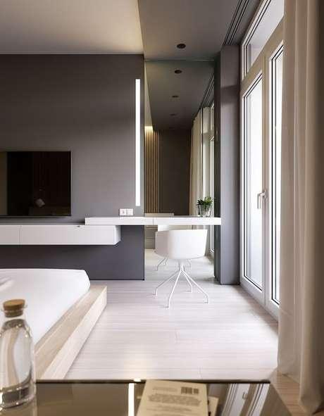 15. Cadeira para penteadeira branca suspensa – Via: Behance