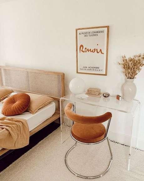 46. Cadeira para penteadeira simples – Via: Sunsoul Style