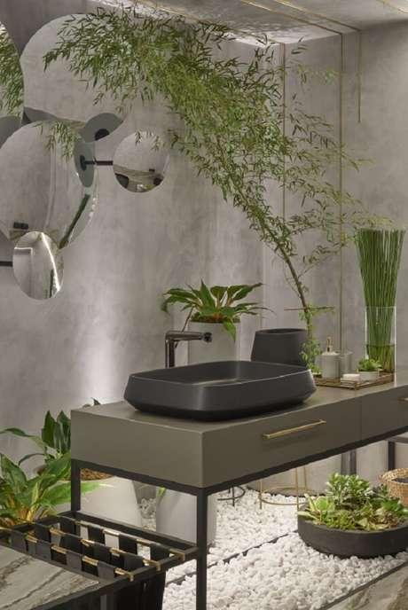 31. Cuba de apoio para banheiro deca com design sofisticado. Fonte: Deca – Lavabo Invernal – Rubya Zottele