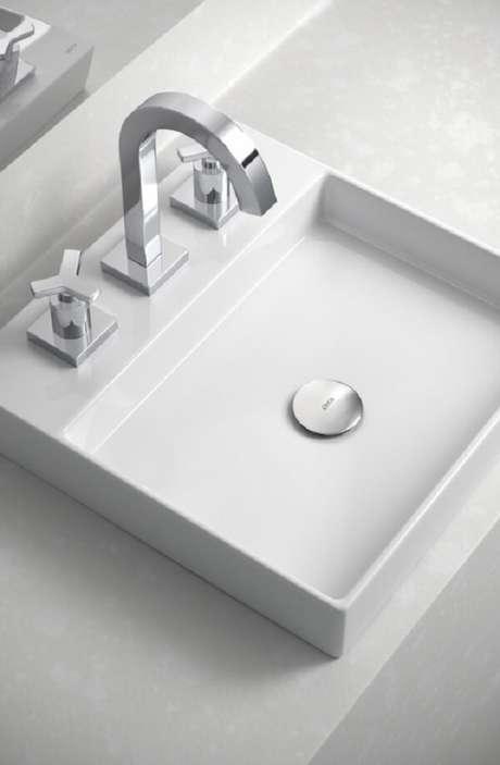 2. Modelo de cuba de apoio para banheiro Deca. Fonte: Deca