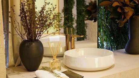 29. Modelo de cuba de apoio para banheiro em formato redondo. Fonte: Deca – Dolce Villa – Debora Aguiar