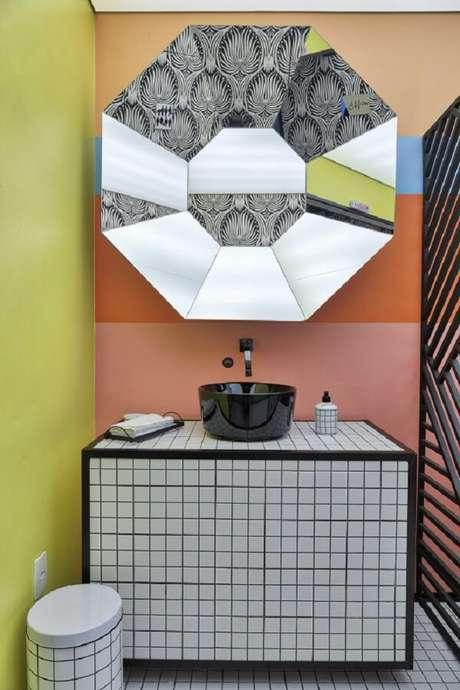 20. Modelo de cuba de apoio para banheiro pequeno. Fonte: Deca – CasaCor São Paulo 2018 – Lisandro Piloni