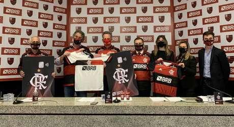 BRB é o patrocinador master do Flamengo desde julho de 2020 (Foto: Marcelo Cortes/Flamengo)