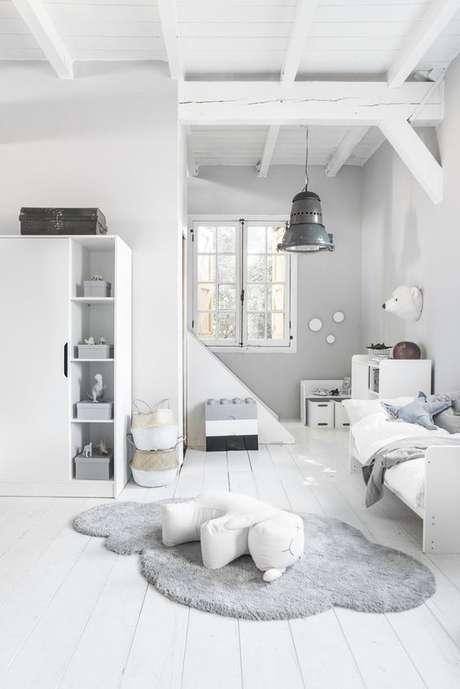 25. Piso laminado branco no quarto infantil – Via: Seven Couches
