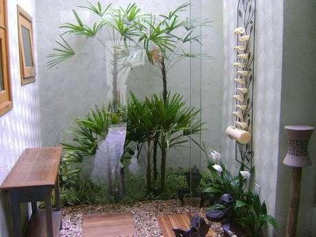 4. Decoração para jardim de inverno pequeno