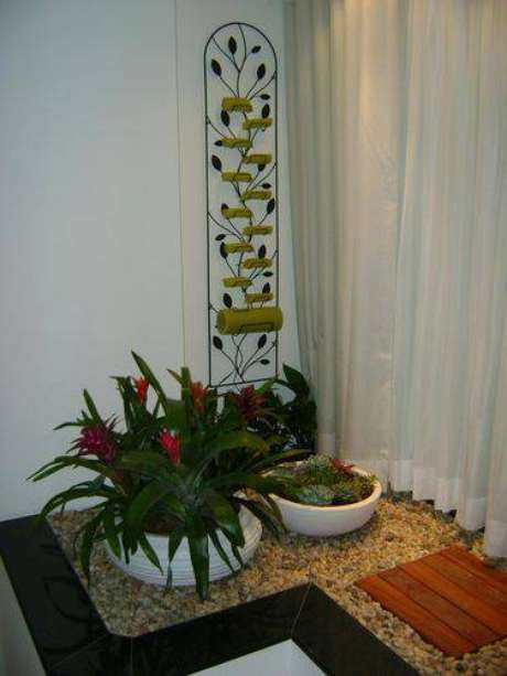 20. Para ambientes menores, você pode alocar seu jardim próximo à janela