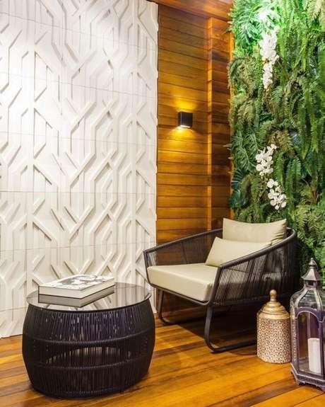 41. Jardim de inverno na sala com poltrona confortável – VIa: Pinterest